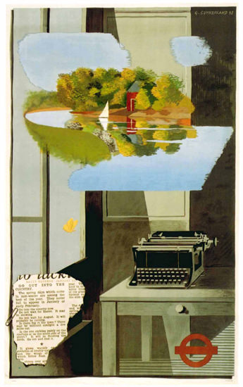 London Underground Typewriter | Vintage Travel Posters 1891-1970