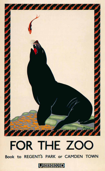 London Underground Zoo Sea Lion Fish Camden | Vintage Travel Posters 1891-1970