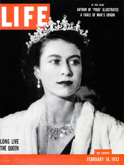Long Live The Queen 18 Feb 1952 Copyright Life Magazine | Life Magazine BW Photo Covers 1936-1970
