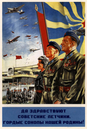Long Live The Soviet Pilots 1939 | Vintage War Propaganda Posters 1891-1970