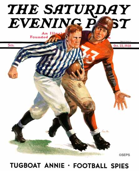 Lonie Bee Saturday Evening Post But Ref 1938_10_22 | The Saturday Evening Post Graphic Art Covers 1931-1969
