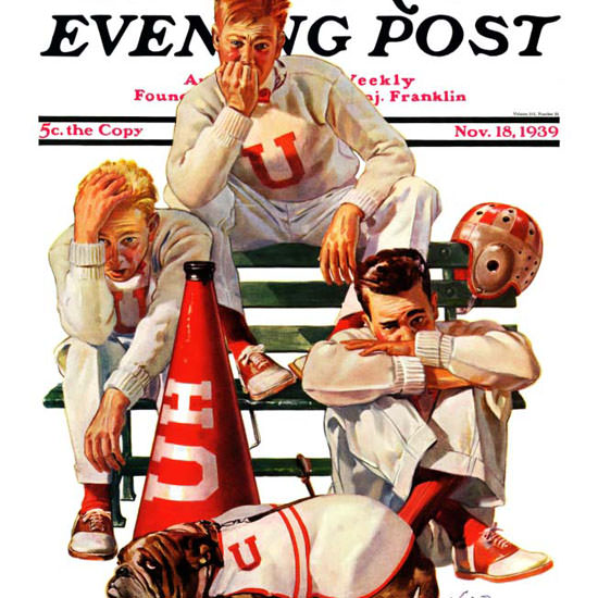 Lonie Bee Saturday Evening Post Lost Game 1939_11_18 Copyright crop | Best of 1930s Ad and Cover Art