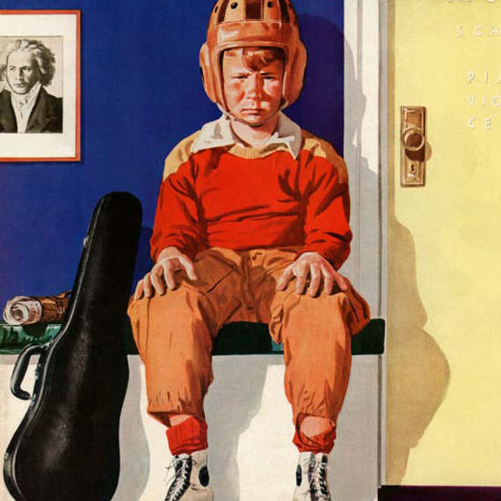 Lonie Bee Saturday Evening Post Musical 1942_11_14 Copyright crop | Best of Vintage Cover Art 1900-1970