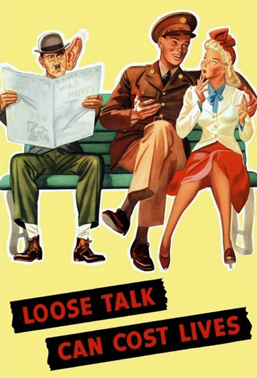 Loose Talk Can Cost Lives Lovers | Vintage War Propaganda Posters 1891-1970