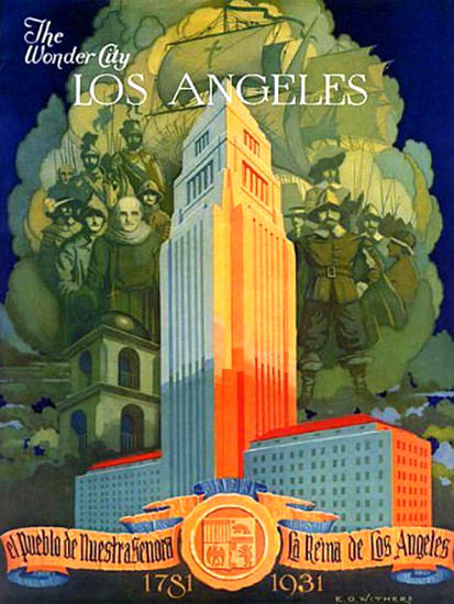 Los Angeles The Wonder City 1931 | Vintage Travel Posters 1891-1970