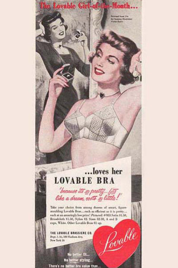 Lovable Bra The Lovable Girl Of The Month | Sex Appeal Vintage Ads and Covers 1891-1970