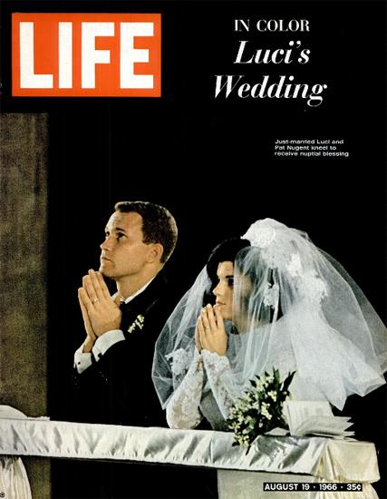 Luci Baines Johnson Turpin Nugent 19 Aug 1966 Copyright Life Magazine   Life Magazine Color Photo Covers 1937-1970