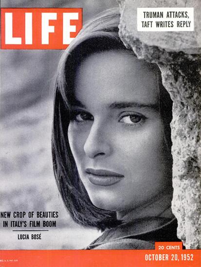 Lucia Bose Italian Actress 20 Oct 1952 Copyright Life Magazine   Life Magazine BW Photo Covers 1936-1970