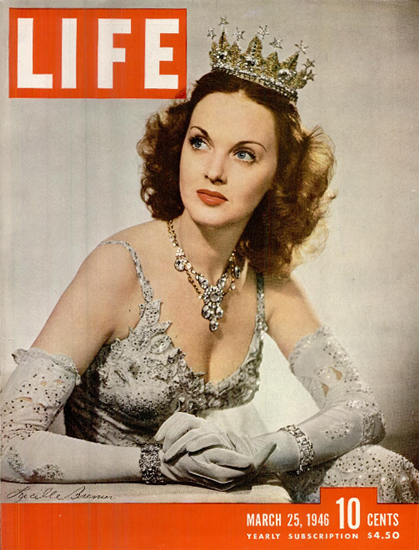 Lucille Bremer 25 Mar 1946 Copyright Life Magazine   Life Magazine Color Photo Covers 1937-1970