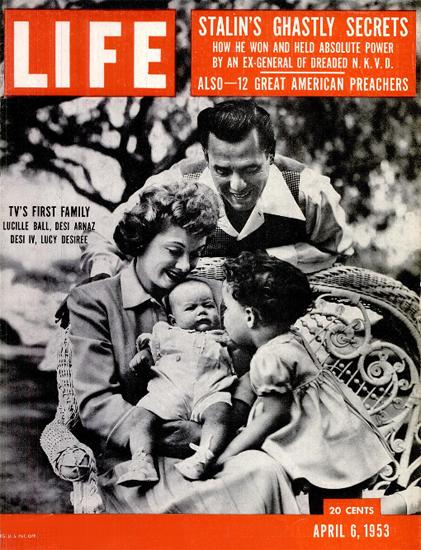 LucilleBall and Desi Arnaz 6 Apr 1953 Copyright Life Magazine   Life Magazine BW Photo Covers 1936-1970