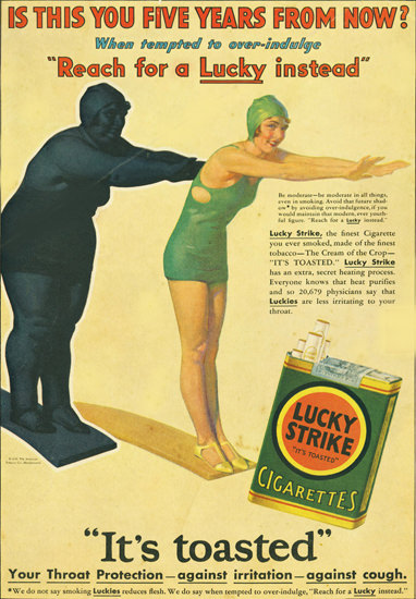 Lucky Strike Cigarettes Five Years From Now | Vintage Ad and Cover Art 1891-1970