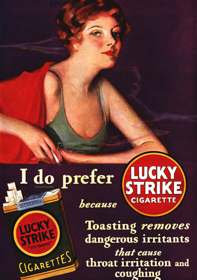 Lucky Strike Cigarettes Girl 1930 | Sex Appeal Vintage Ads and Covers 1891-1970