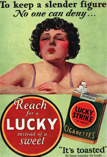 Lucky Strike Cigarettes To Keep A Slender Figure | Vintage Ad and Cover Art 1891-1970