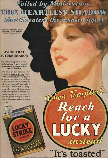Lucky Strike Heartless Shadow – Modern Figure | Vintage Ad and Cover Art 1891-1970