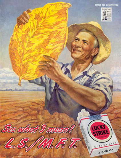 Lucky Strike Leaf See What I Mean 1945 | Vintage Ad and Cover Art 1891-1970