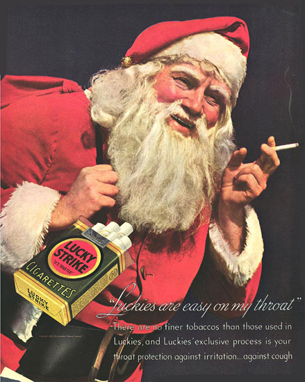 Lucky Strike Santa Claus Cigarettes 2 | Vintage Ad and Cover Art 1891-1970