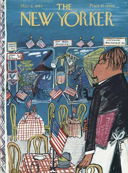 Ludwig Bemelmans The New Yorker 1943_03_06 Copyright | The New Yorker Graphic Art Covers 1925-1945