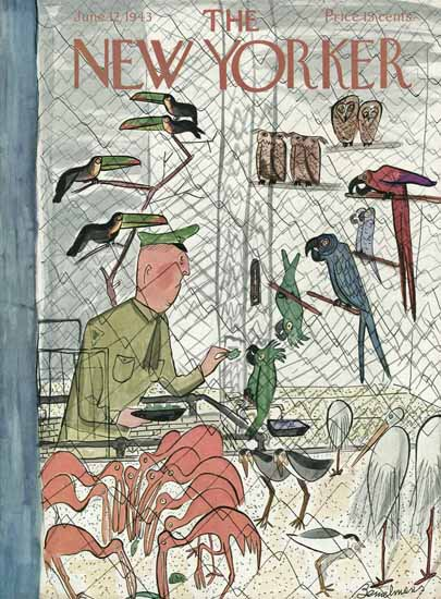 Ludwig Bemelmans The New Yorker 1943_06_12 Copyright | The New Yorker Graphic Art Covers 1925-1945