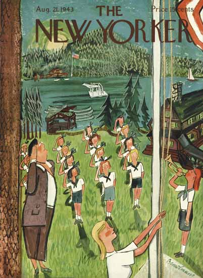 Ludwig Bemelmans The New Yorker 1943_08_21 Copyright | The New Yorker Graphic Art Covers 1925-1945