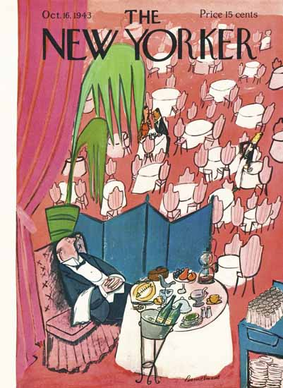 Ludwig Bemelmans The New Yorker 1943_10_16 Copyright | The New Yorker Graphic Art Covers 1925-1945