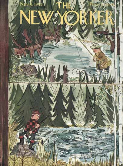 Ludwig Bemelmans The New Yorker 1943_11_06 Copyright | The New Yorker Graphic Art Covers 1925-1945