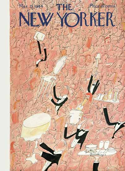 Ludwig Bemelmans The New Yorker 1944_03_25 Copyright | The New Yorker Graphic Art Covers 1925-1945