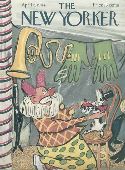 Ludwig Bemelmans The New Yorker 1944_04_08 Copyright | The New Yorker Graphic Art Covers 1925-1945