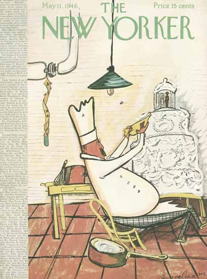 Ludwig Bemelmans The New Yorker 1946_05_11 Copyright | The New Yorker Graphic Art Covers 1946-1970
