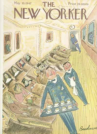 Ludwig Bemelmans The New Yorker 1947_05_10 Copyright | The New Yorker Graphic Art Covers 1946-1970