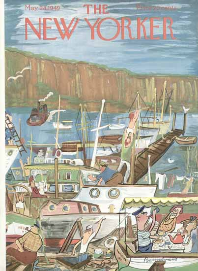 Ludwig Bemelmans The New Yorker 1949_05_28 Copyright | The New Yorker Graphic Art Covers 1946-1970