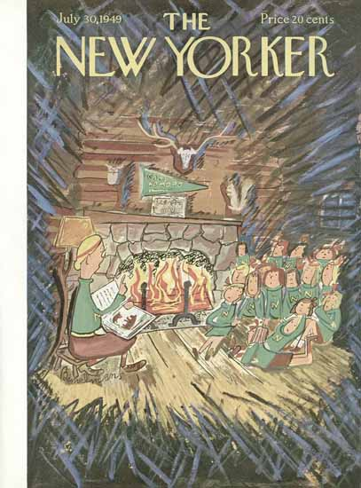 Ludwig Bemelmans The New Yorker 1949_07_30 Copyright | The New Yorker Graphic Art Covers 1946-1970