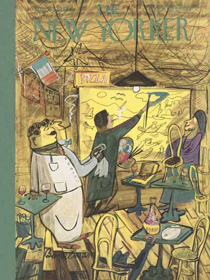 Ludwig Bemelmans The New Yorker 1950_04_01 Copyright | The New Yorker Graphic Art Covers 1946-1970