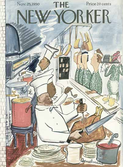 Ludwig Bemelmans The New Yorker 1950_11_25 Copyright | The New Yorker Graphic Art Covers 1946-1970