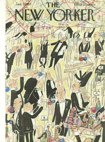 Ludwig Bemelmans The New Yorker 1953_01_03 Copyright | The New Yorker Graphic Art Covers 1946-1970