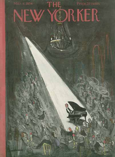 Ludwig Bemelmans The New Yorker 1954_03_06 Copyright | The New Yorker Graphic Art Covers 1946-1970