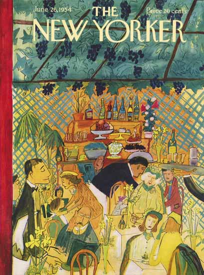 Ludwig Bemelmans The New Yorker 1954_06_26 Copyright | The New Yorker Graphic Art Covers 1946-1970