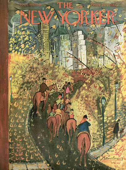 Ludwig Bemelmans The New Yorker 1954_10_09 Copyright | The New Yorker Graphic Art Covers 1946-1970