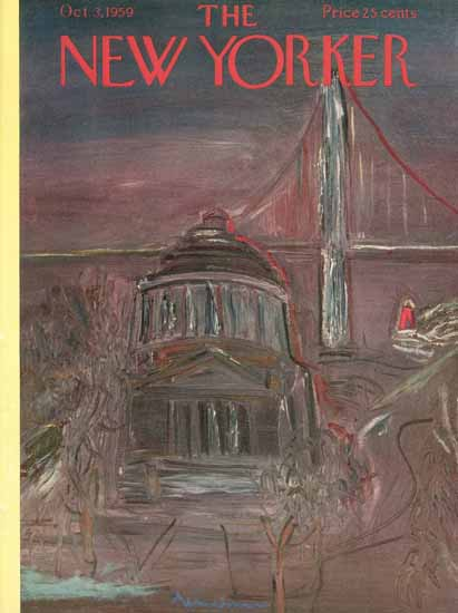 Ludwig Bemelmans The New Yorker 1959_10_03 Copyright | The New Yorker Graphic Art Covers 1946-1970