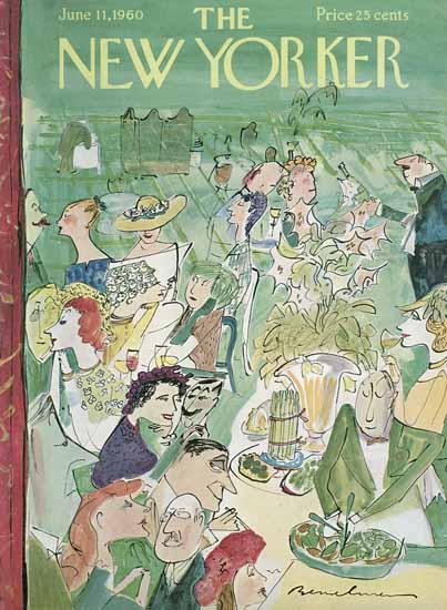 Ludwig Bemelmans The New Yorker 1960_06_11 Copyright | The New Yorker Graphic Art Covers 1946-1970