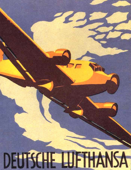 Lufthansa 1936 Germany | Vintage Travel Posters 1891-1970
