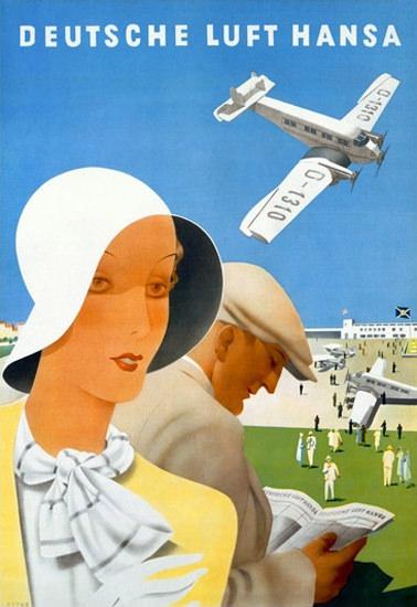 Lufthansa Deutsche Airport | Vintage Travel Posters 1891-1970