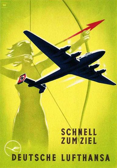 Lufthansa Schnell Zum Ziel Deutsche 1939 | Vintage Travel Posters 1891-1970