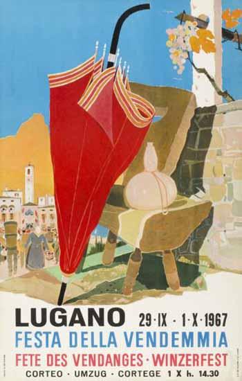 Lugano Festa Della Vendemmia Switzerland 1967 | Vintage Travel Posters 1891-1970
