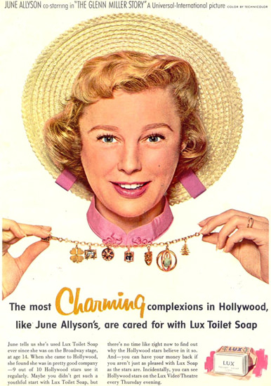 Lux Soap June Allyson The Glenn Miller Story 1954 | Sex Appeal Vintage Ads and Covers 1891-1970