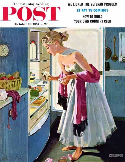 M Coburn Whitmore Saturday Evening Post Prom Momento 1955_10_29 | The Saturday Evening Post Graphic Art Covers 1931-1969