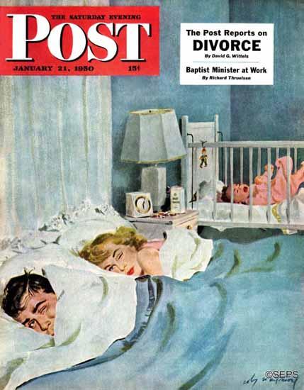 M Coburn Whitmore Saturday Evening Post Whos Turn 1950_01_21   The Saturday Evening Post Graphic Art Covers 1931-1969