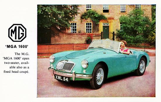 MG Series MGA 1600 1959 Turquoise | Vintage Cars 1891-1970