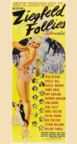 MGM Ziegfeld Follies of 1945 Movie Poster George Petty Sex Appeal | Sex Appeal Vintage Ads and Covers 1891-1970