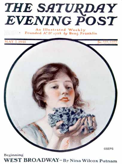 MJ Spero Saturday Evening Post West Broadway 1921_05_07 | The Saturday Evening Post Graphic Art Covers 1892-1930