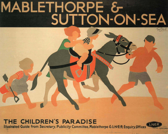 Mablethorpe Sutton On Sea Childrens Paradise UK | Vintage Travel Posters 1891-1970